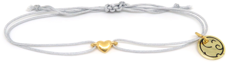 Heart Gold - Celebrate Life knooparmband
