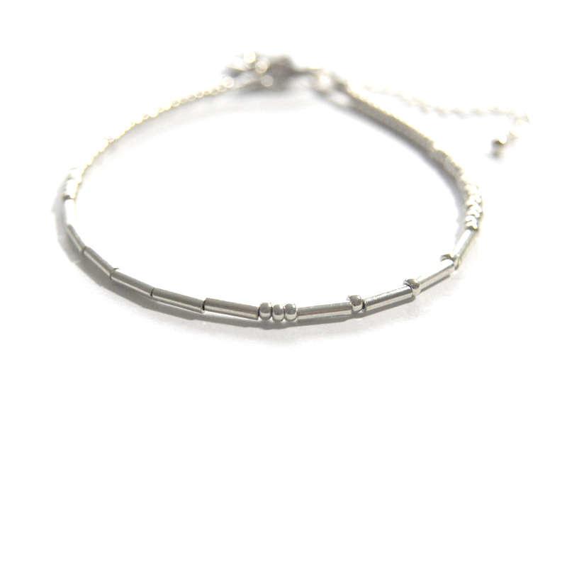 Morsecode armbandje Omdenken zilver