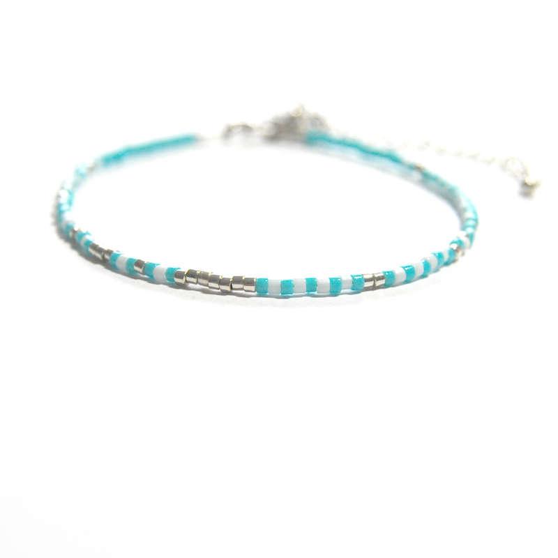 Morsecode armbandje Wees aardig voor jezelf Azure bleu