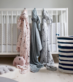 Done By Deer Swaddle  contour Blue