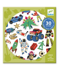 Djeco Puffy Stickers Retro Toys