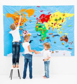 Wereldkaart groot