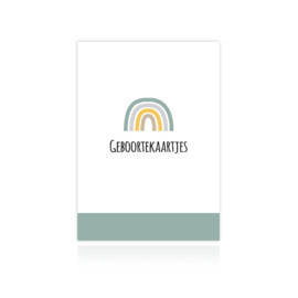 Sus Design Bewaarbundel Geboortekaartjes Regenboog Mint