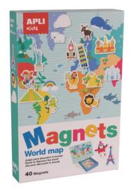 Apli Kids Magneetspel  Wereldkaart
