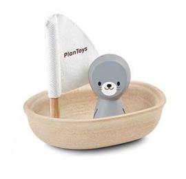 Plan Toys Zeilboot Zeehondje