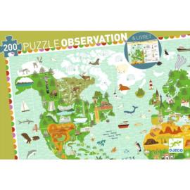 Djeco Observatie puzzel  Reis rond de wereld