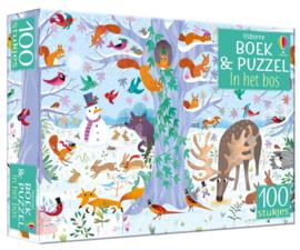 Usborne Boek met puzzel  100st   In het bos