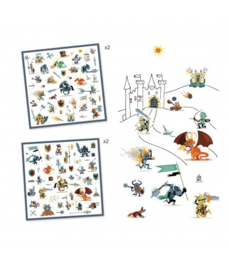Djeco 160 stickers  Ridders