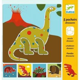 Djeco  tekensjablonen Dino's