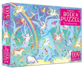 Usborne Boek met puzzel  100st   Eenhoorns