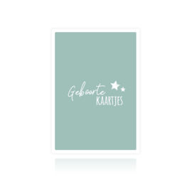 Sus Design Bewaarbundel  Geboortekaartjes Blauw