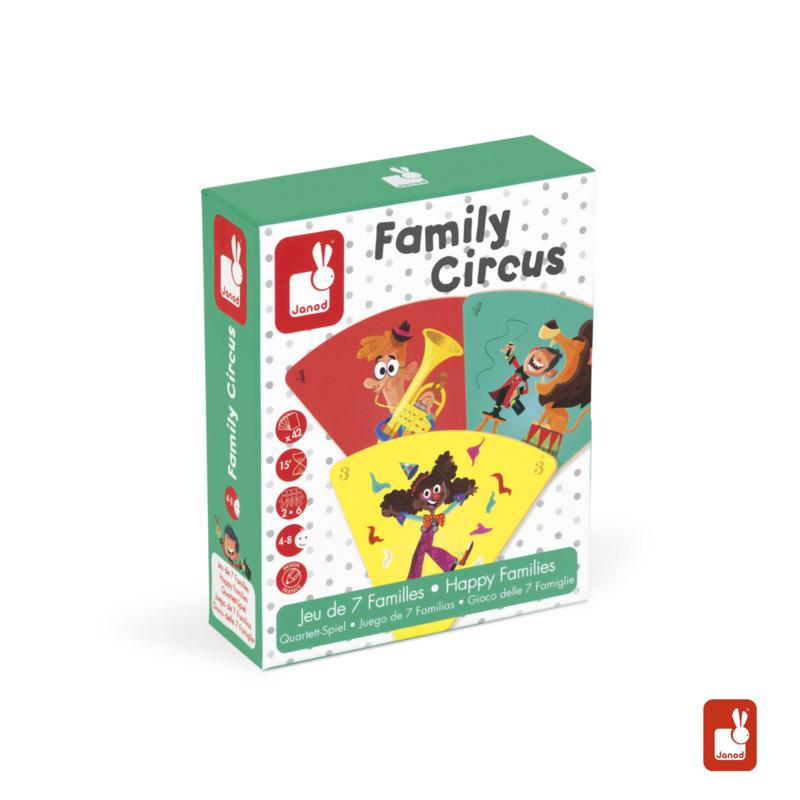 Janod Kwartetspel Familie Circus