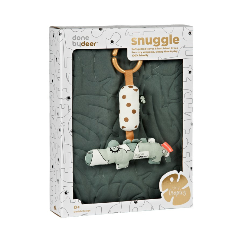 Done by Deer Tiny Tropics Quilt & Croco Gift Box