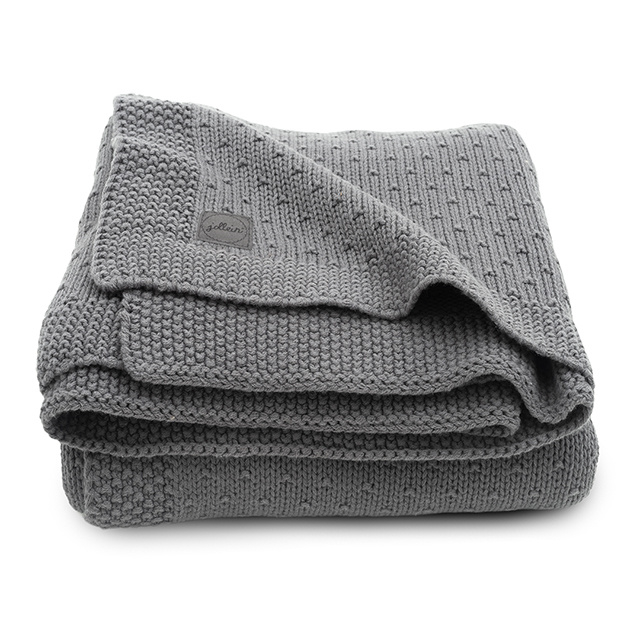 Jollein Wieg Deken Bliss Knit 75x100cm - Storm Grey
