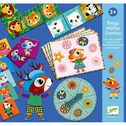 Djeco spellendoos  Bingo, Memory en Domino