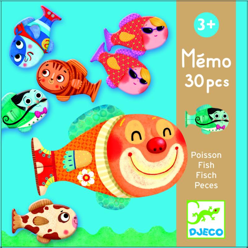 Djeco Memory spel vissen