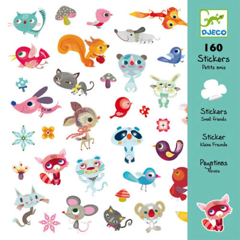 Djeco 160 stickers Kleine Vriendjes