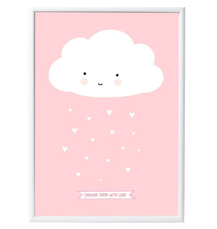 A little lovely company Poster roze wolk