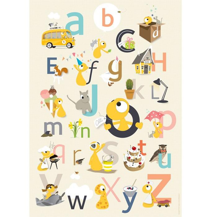 Olli en Jeujeu ABC Poster
