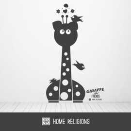 Giraffe and a Friend