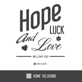 Hope Luck And Love
