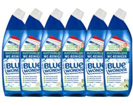 Blue Wonder 100% natuurlijke WC-reiniger Voordeelverpakking - 6x 750 ml fles omdoos (4,5 l)