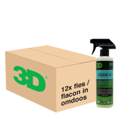 3D ODOR X - 12x 16 oz / 473 ml Spray Fles in Grootverpakking