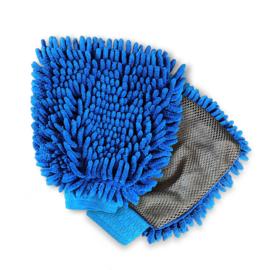 W.A.S.H. Microfiber Washing Mitt - Autowashandschoen - Ultra zacht - blauw - 25 x 16 cm