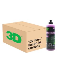 3D WASH n WAX - 12x 16 oz / 473 ml Flacon in Grootverpakking