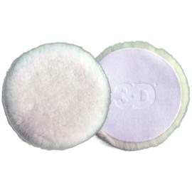 """3D White premium lamb Wool pad 6.1"""""""