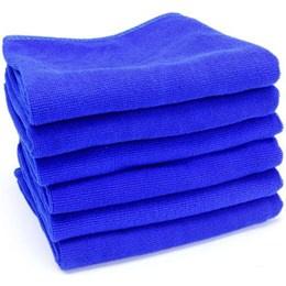 W.A.S.H. Microfiber Premium Poetsdoek  - Ultra zacht - blauw - 60 x 40 cm - 12 pack (12 stuks)