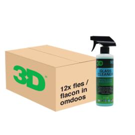 3D Glass Cleaner - 12x 16 oz / 473 ml Spray Fles in Grootverpakking