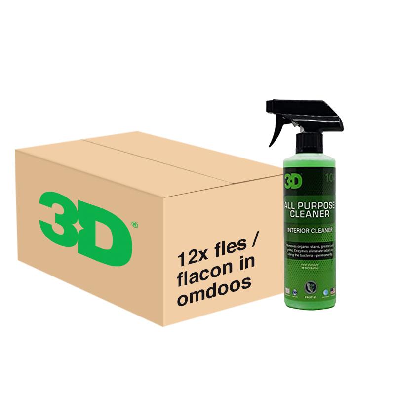 3D ALL PURPOSE CLEANER - 12x 16 oz / 473 ml Spray Fles in Grootverpakking