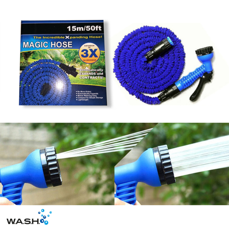 W.A.S.H. Eazy Tuinslang - 15 meter - blauw
