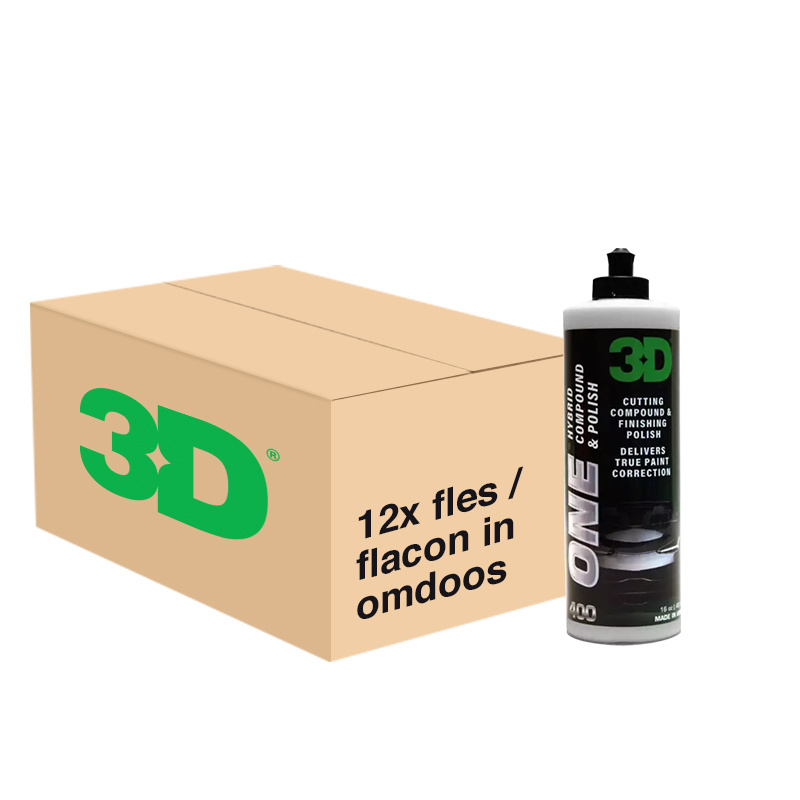 3D ONE Hybrid Compound & Polish - 12x 32 oz / 940 ml Flacon in Grootverpakking