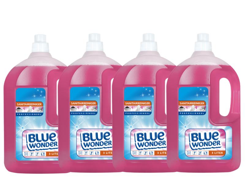 Blue Wonder Sanitairreiniger Professioneel Voordeelverpakking - 4x 3000 ml fles