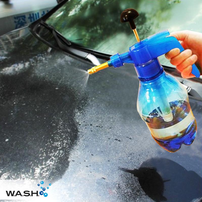W.A.S.H. Drukspuit - 1,5 liter - blauw - messing spuitkop