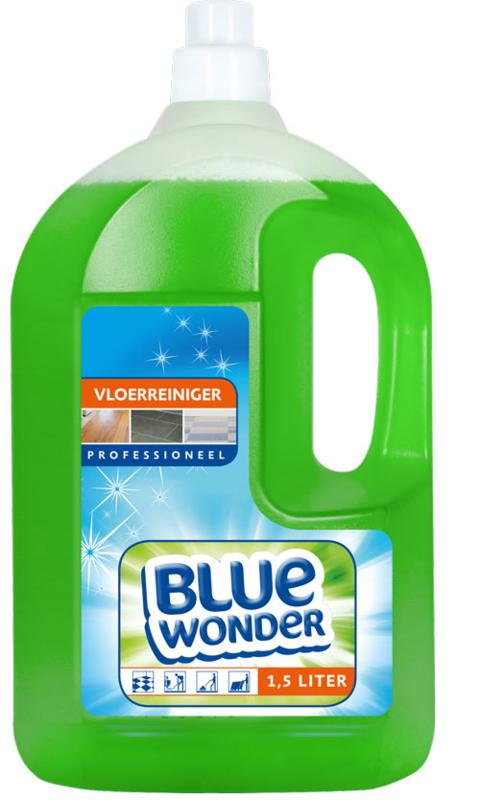 Blue Wonder Vloerreiniger Professioneel Voordeelverpakking - 6x 1500 ml fles