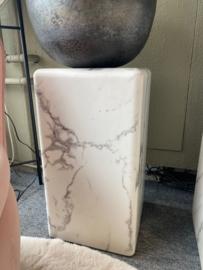 Pillar Marble Look White Small