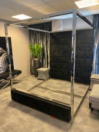 Luxury living Bed Set Anthony  Nickel - black velvet
