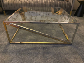 Luxury living Coffeetable quinzano  nickel/gold finish