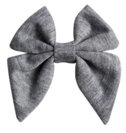 Strik tricot grijs gemeleerd