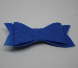 Strik Geanne vilt kobaltblauw