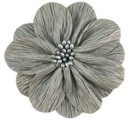 Bloem Lily 8cm lichtgrijs