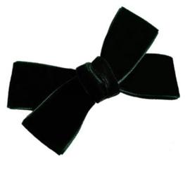 Strik Lotte fluweel 9cm donkergroen