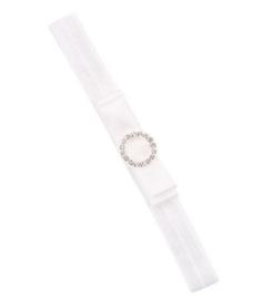 Haarband wit satijn met strass