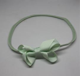Haarband dubbele strik mint groen