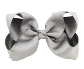 Luxe grote strik op clip grijs