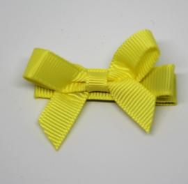 Haarclip strik klein geel