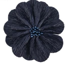 Bloem Lily 8cm donkerblauw